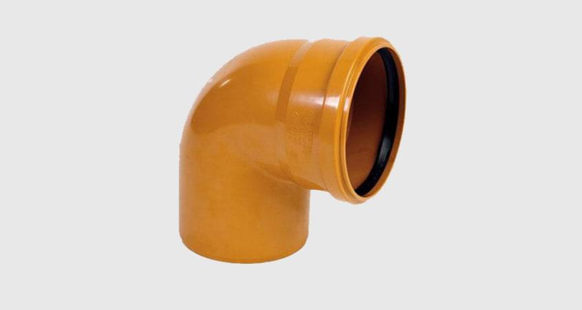 Колено ПВХ для канализационной трубы