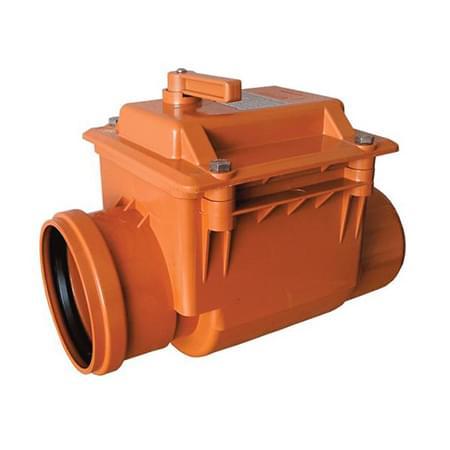 Клапан обратный ПВХ для канализационных трубы