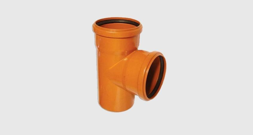 Тройник ПВХ для канализационной трубы
